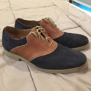 Johnston & Murphy Blue Suede / Tan Leather Oxford